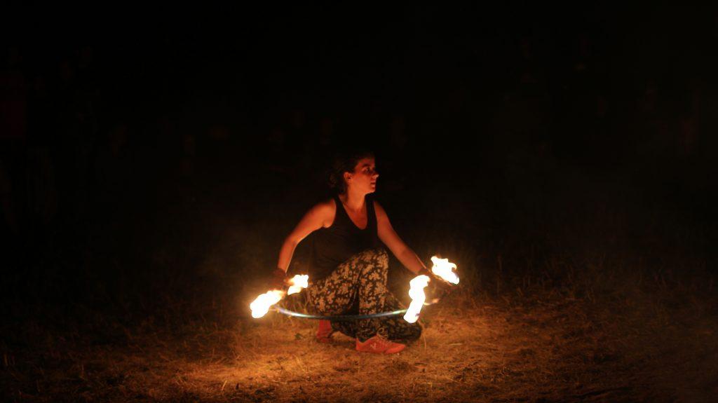 fire performer festival